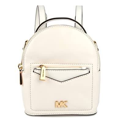 05399782fee5 MICHAEL by Michael Kors Jessa Extra Small Optic White Convertible Backpack  one size Optic White