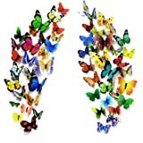 PARLAIM 104PCS Butterfly Wall Decor for Wall-3D Butterflies Wall Stickers Removable Mural Decals Home Decoration for…