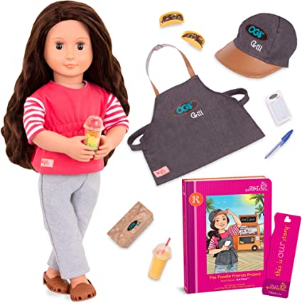 Our Generation Deluxe Food Truck Outfit for 18 Dolls Dressed to Grill Kid Toy