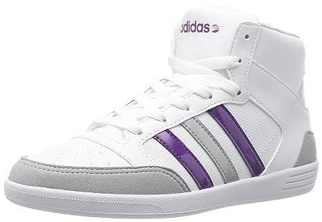 Scarpe adidas neo Hoops Mid 2.0 grigio bianco donna