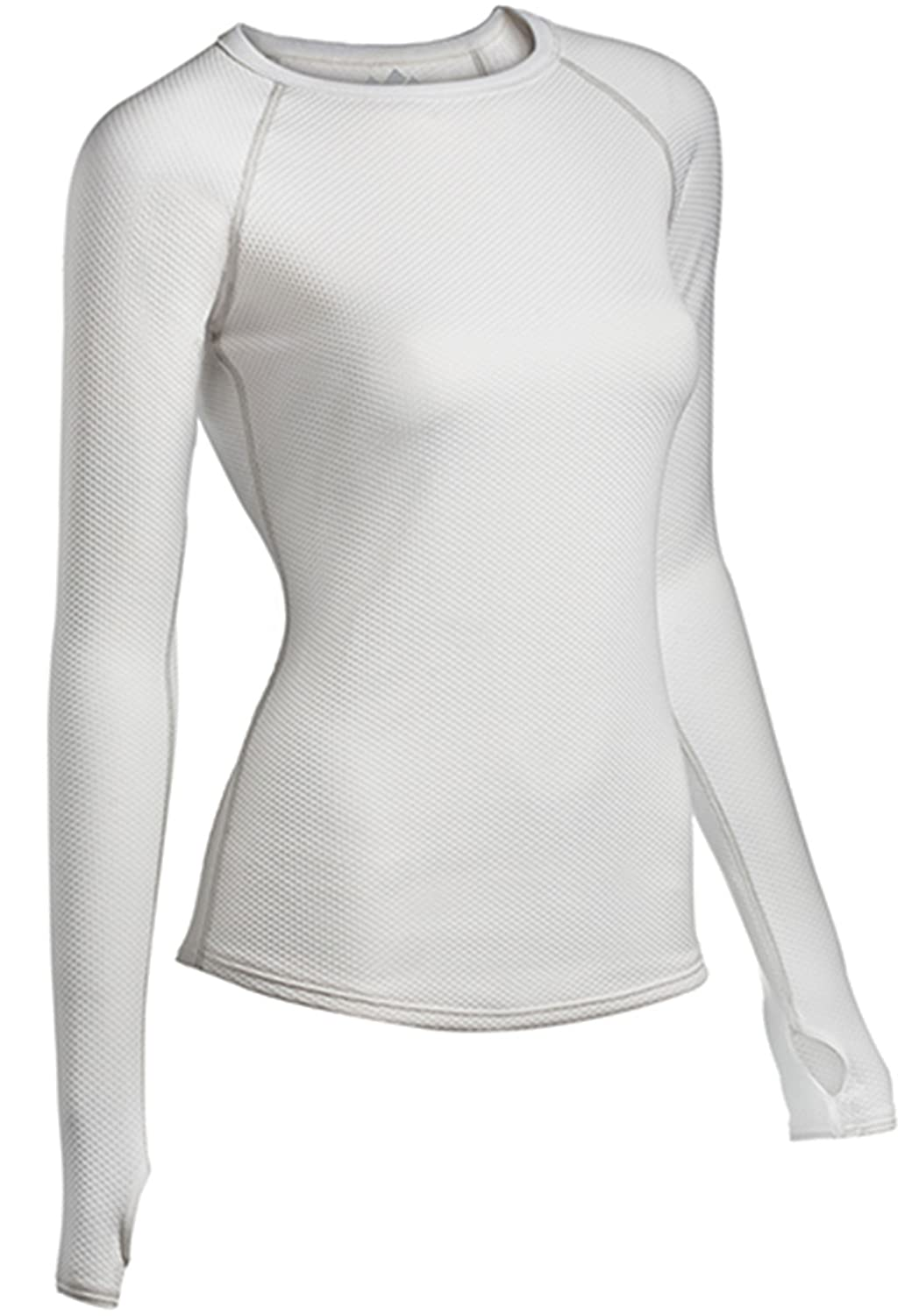 ColdPruf Womens Honeycomb Base Layer Long Sleeve Crew Neck Top X-Large White