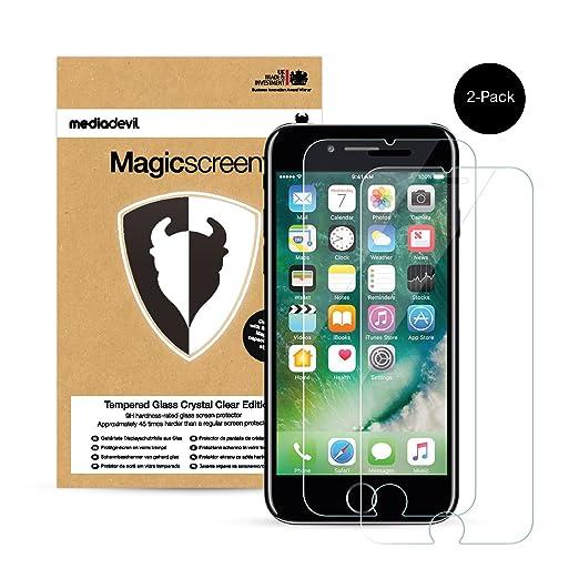 696 opinioni per 2 Pacchi Apple iPhone 7 Plus Pellicola Protettiva in Vetro Temperato, MediaDevil