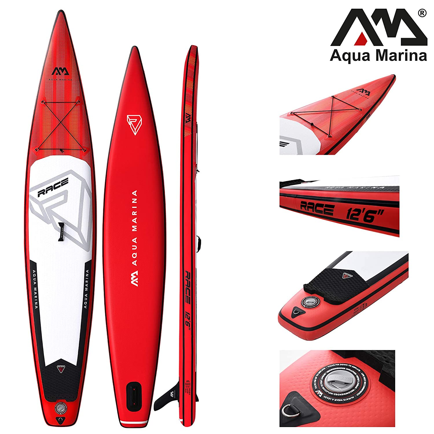 Aqua Marina Race ISUP - Tabla de Paddle Surf Hinchable (381 x 66 x 15 cm): Amazon.es: Deportes y aire libre