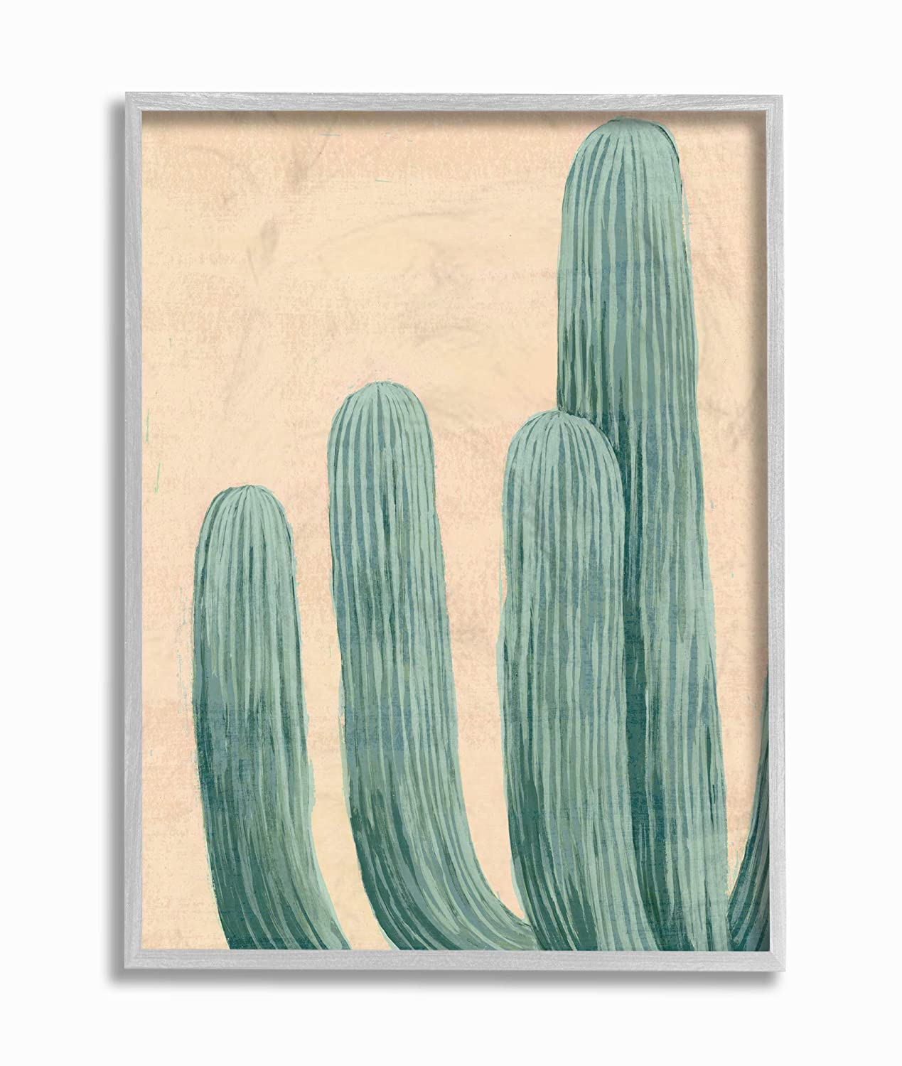 The Stupell Home Decor Painted Dusty Cacti Framed Giclee Texturized Art 11x14 Multi-Color