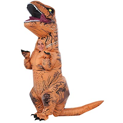 Rubie's Jurassic World T-Rex Inflatable Child's Costume, One Size: Toys & Games