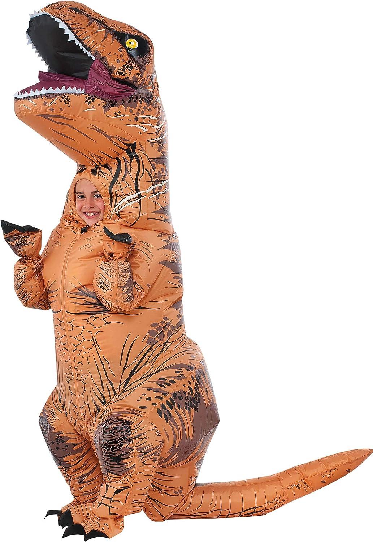 Jurassic World - Disfraz hinchable de dinosaurio T-Rex para niños ...
