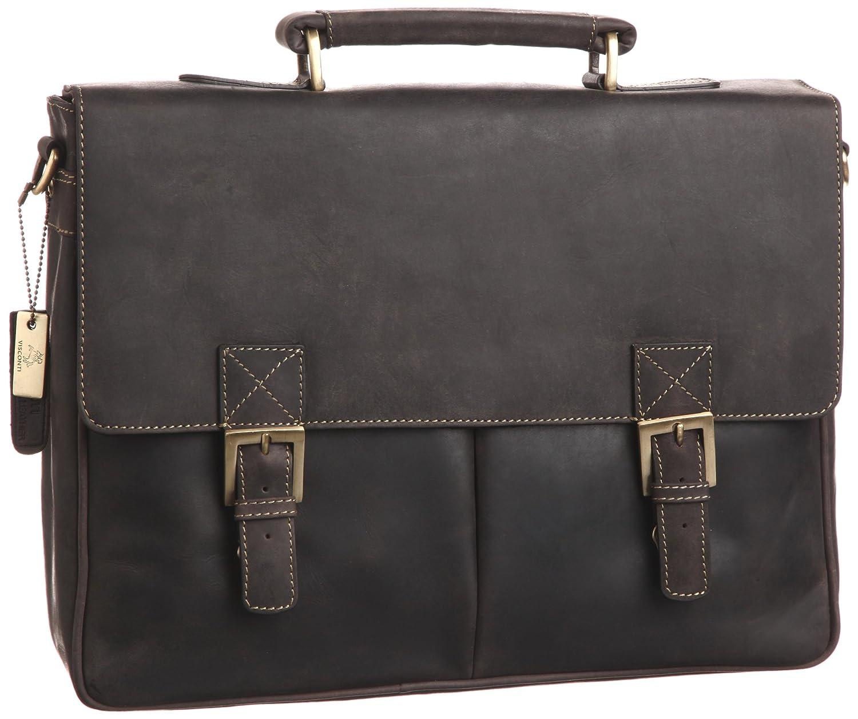 [ヴィスコンティ] BERLIN ダブルロック ビジネスバッグ HUNTER オイルレザーを使用 18716 B00ADWLPN6oil brown