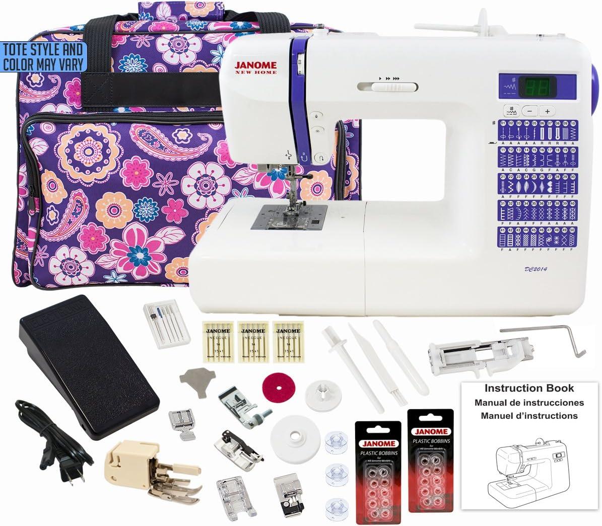 Janome DC2014 Máquina de coser computarizada con paquete de bono ...
