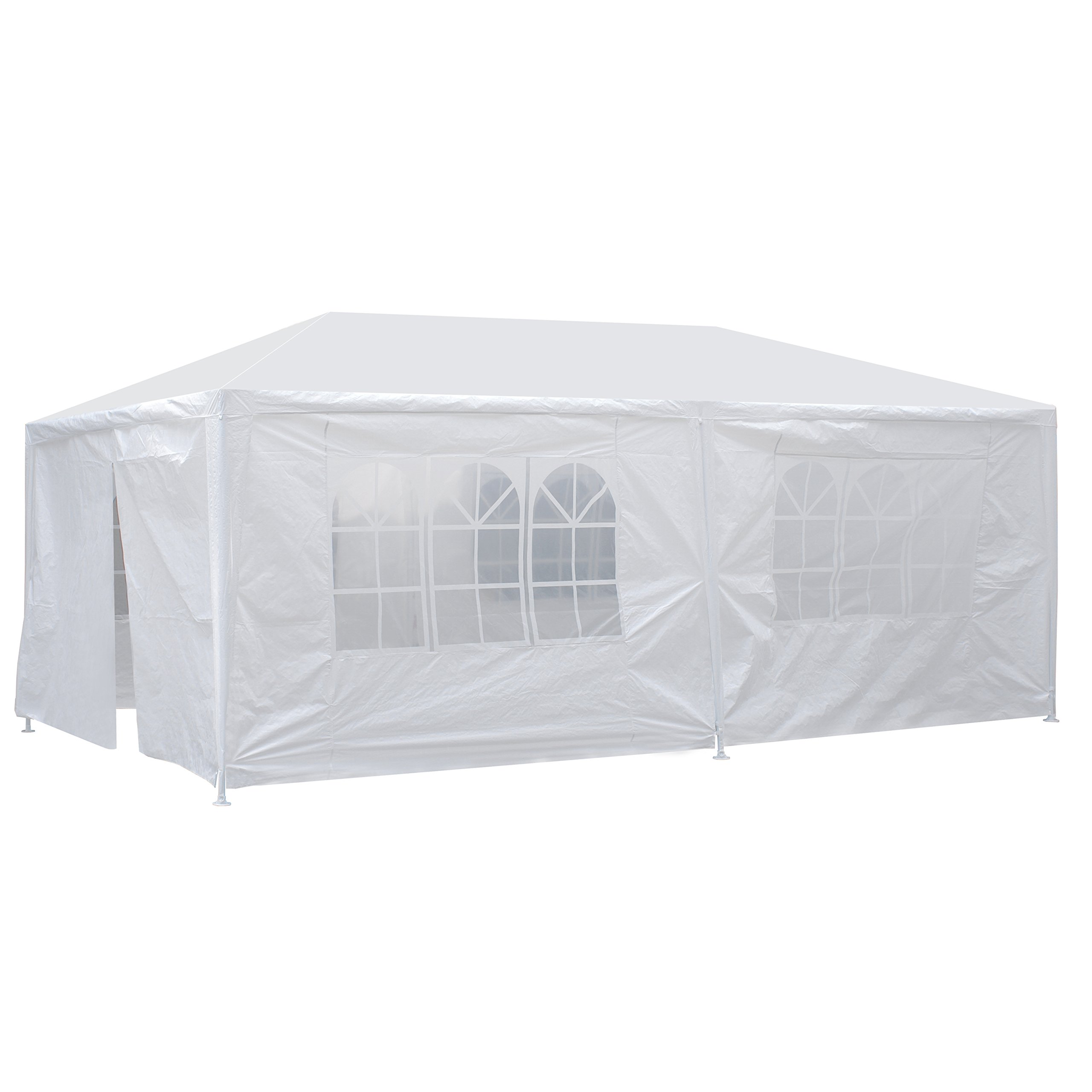 Smartxchoices 10' x 20' Outdoor White Waterproof Gazebo Canopy Tent with 6 Removable Sidewalls and Windows Heavy Duty Tent for Party Wedding Events Beach BBQ (10' x 20' with 6 Sidewalls) by Smartxchoices