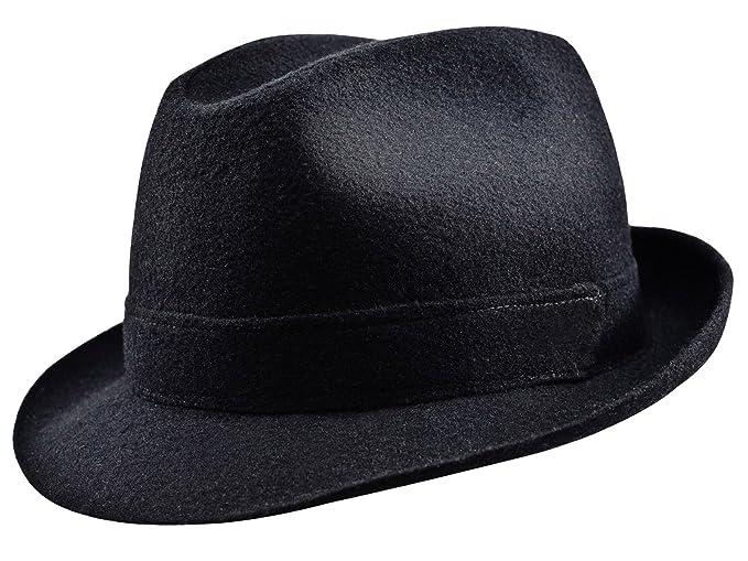 Sterkowski Woolen Sewn Trilby Hat Blues Brothers Vintage Style US 7 Black 01edba5d58e