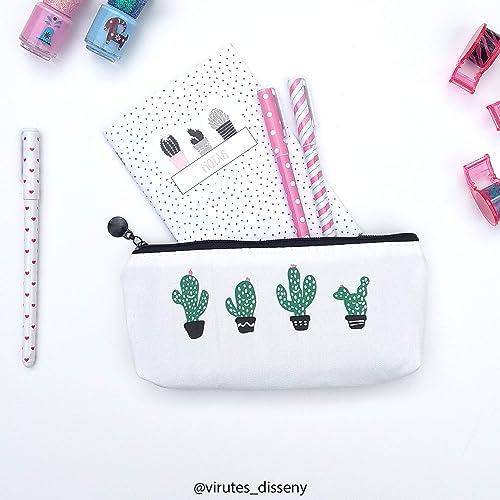 Neceser Cactus // Ideal cómo porta todo // Estuche para el colegio // Impermeable // Cabe el móvil, las llaves y lo que necesites // Sugerencia de regalo: Amazon.es: Handmade
