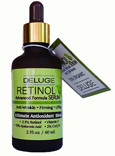 Sérum de Deluge con retinol, vitamina C, ácido hialurónico, coenzima Q10 y mezcla
