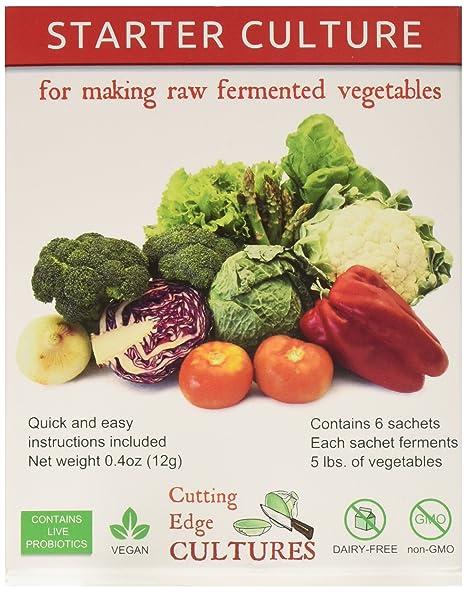 Vegetable Contains Amazon cutting edge cultures vegetable starter culture 6 cutting edge cultures vegetable starter culture 6 pouches 12g workwithnaturefo