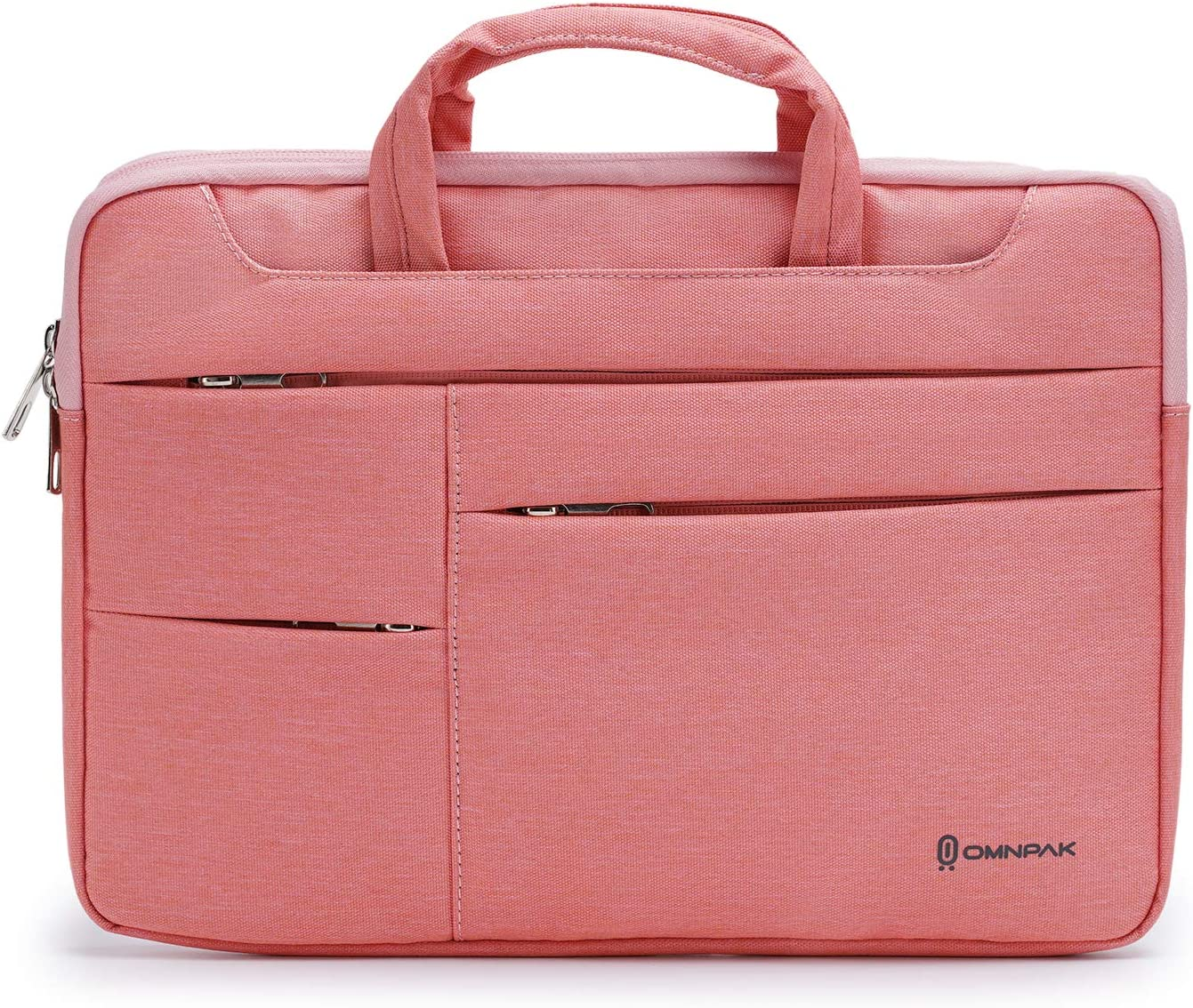 Omnpak 360 Laptop Sleeve Carrying Case for 15.6 Inch Acer Aspire E 15, Water-Resistant Notebook Bag Case for 2020 New Dell XPS 17 Laptop with Accessory Pocket,Red