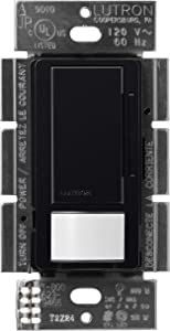 Lutron Maestro LED+ Motion Sensor Dimmer Switch | No Neutral Required | MSCL-OP153M-BL | Black