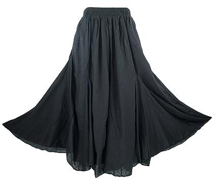 cf2cfa699d Beautybatik Cotton Boho Gypsy Long Maxi Godet Skirt Sz 1 X 2X 3X at ...