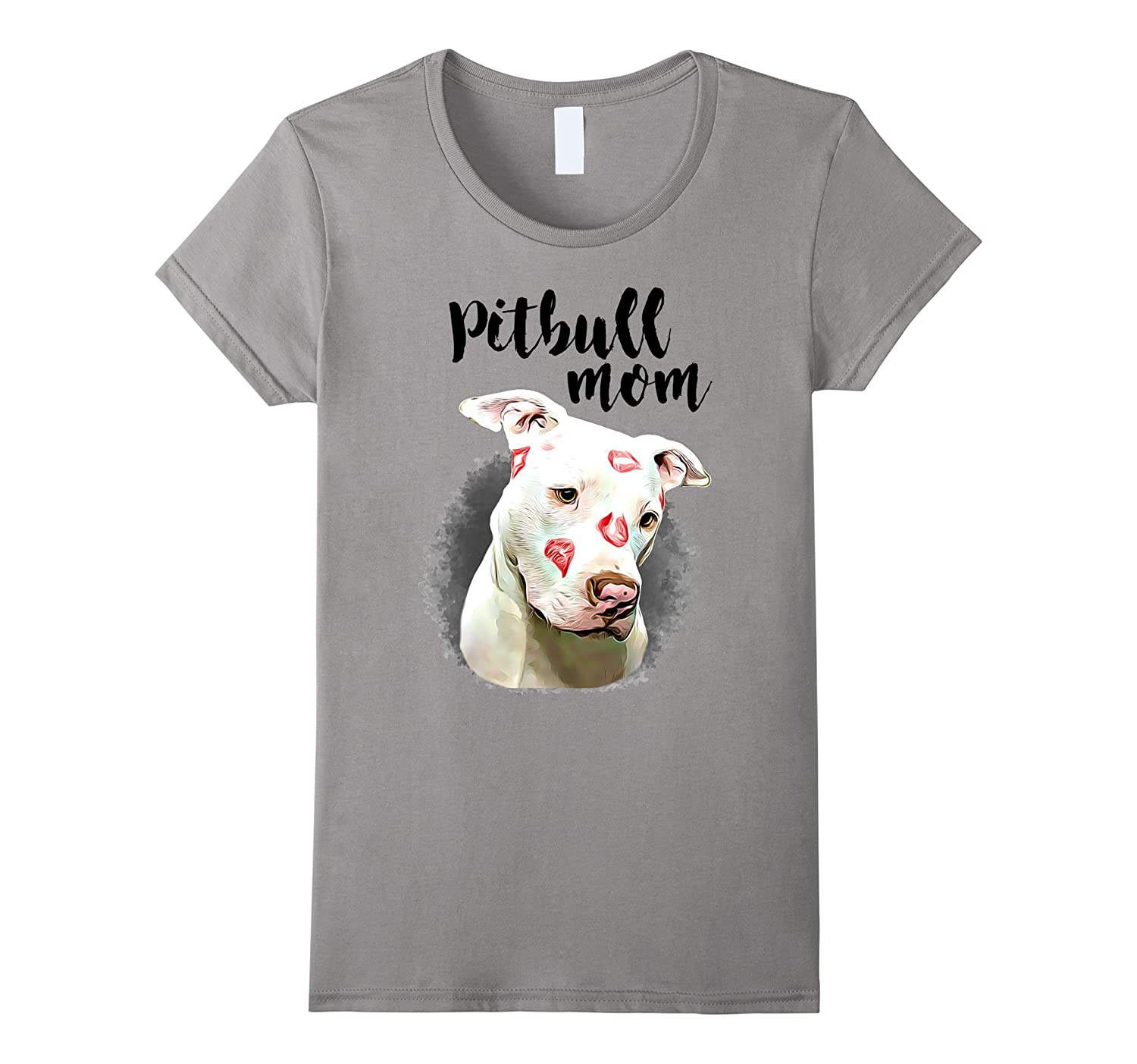 Womens Cute Pitbull Mom T Shirts For Female Dog Owner Pit Mama-TH