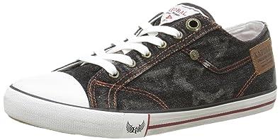 Kaporal Icare, Herren Sneaker, Schwarz - Schwarz - Schwarz - Größe: 43