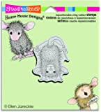 """Stampendous HMCH03 Handstand House Mouse Cling Stamp, 3.5"""" by 4"""", Grey"""