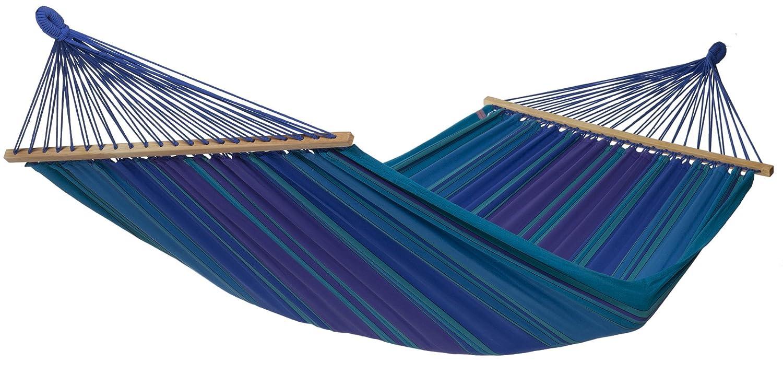 Stabhängematte XL, reine Baumwolle, 220 x 170 cm, 180 kg Tragfähigkeit, in 2 Farben, blau