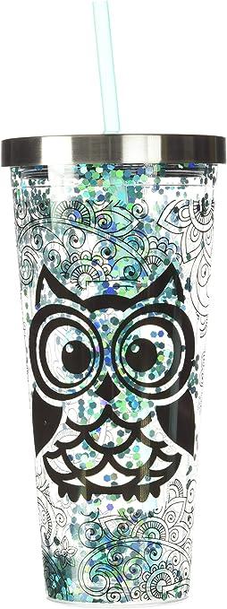 Owl Glitter Cup