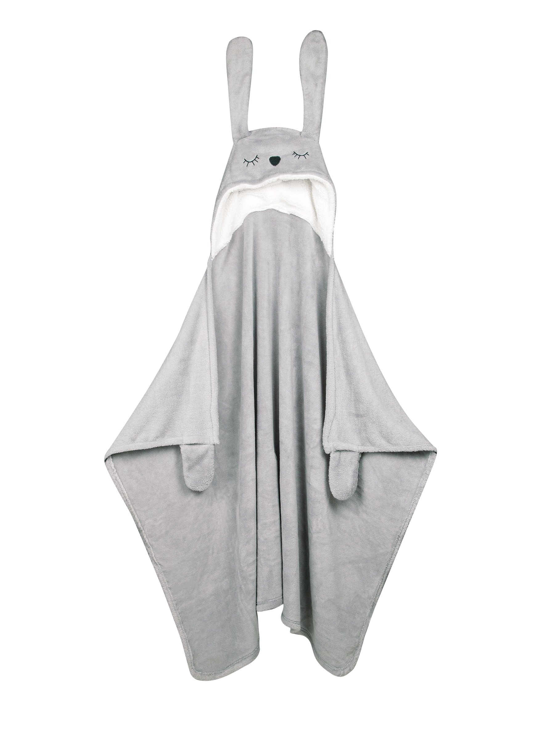 Children's Hooded Animal Blankets Kids (Rabbit Blanket) by Babycat