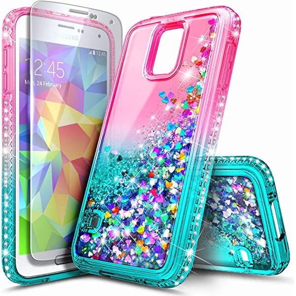 Amazon.com: Maxdara Case for Galaxy S5 Glitter Case Gradient ...
