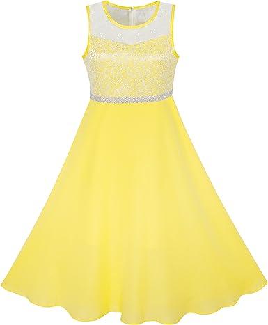 Sunny Fashion Vestido para niña Diamante de imitación Gasa Dama de ...