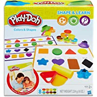 Play Doh - Shape & Learn - Colours &  Shapes inc 8 cans & acc - Ages 2+