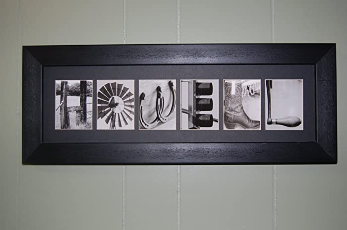 Amazon.com: Framed & Matted Alphabet Photography Art Photo Letter ...