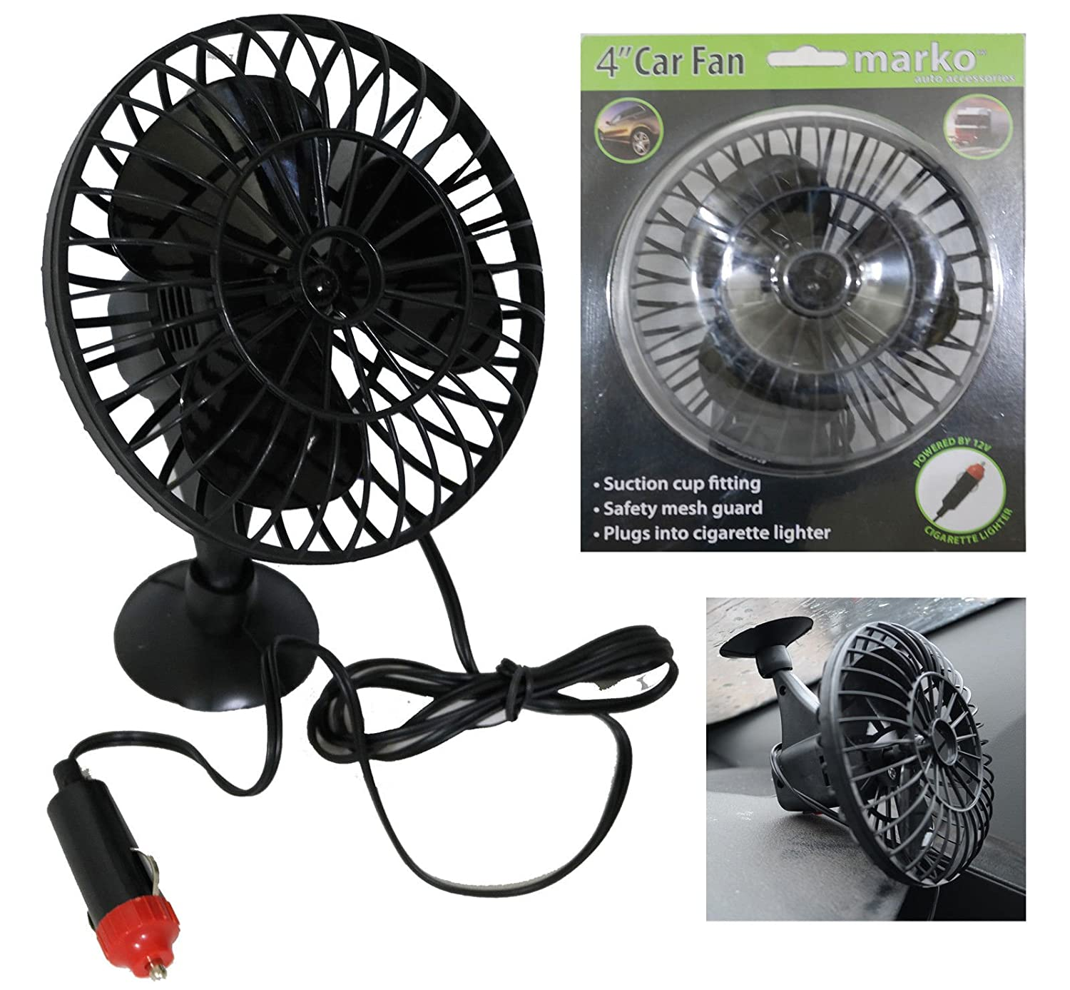Marko Electrical Fan Pedestal Fans Oscillating Stand Desk Electric Home Tower Office Standing UK (4