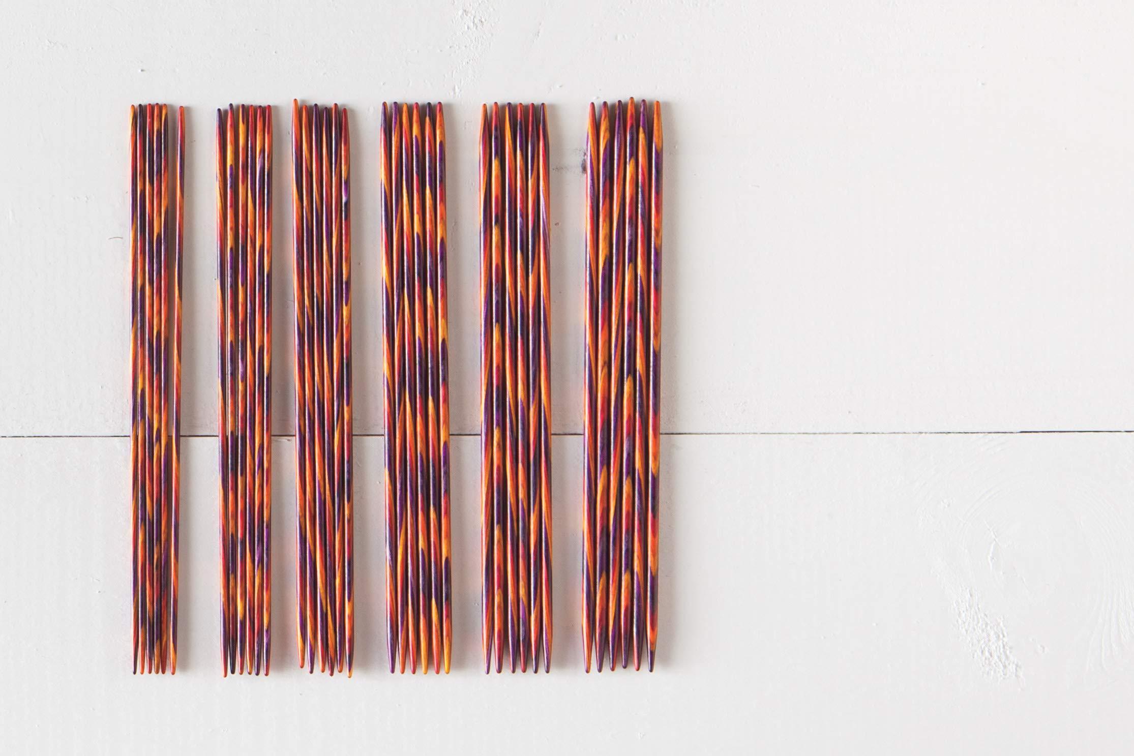 Knit Picks Wood Double Pointed Knitting Needle Set (6'', Radiant)