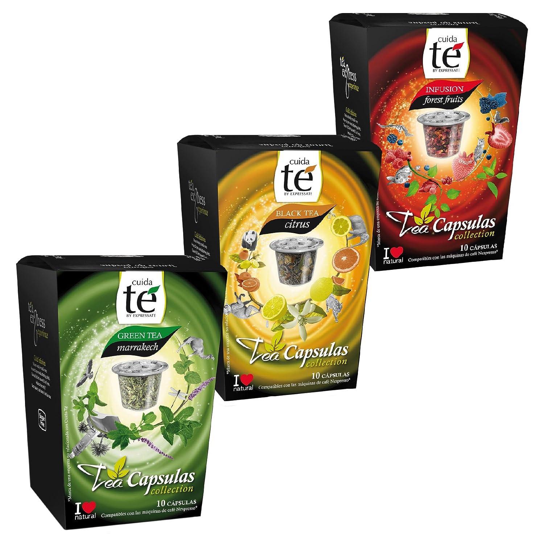 Cuida te Te, Té Mezcla, 3 Tipos de té, Cápsula, Nespresso Compatible, 3 x 10 Cápsulas: Amazon.es: Hogar