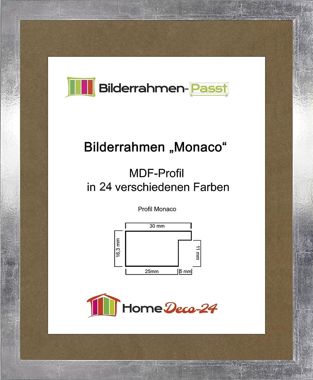 Monaco MDF Bilderrahmen ohne Rundungen 31 x 42 cm Größe wählbar 42 x ...