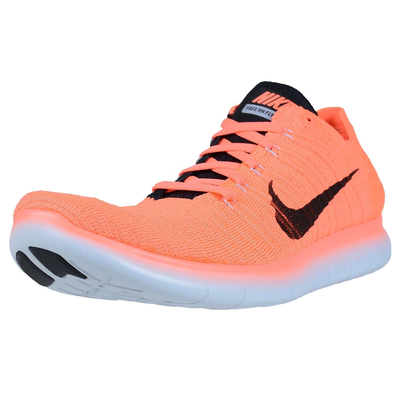 Nike Men's Free- RN Flyknit 2017 Running Shoe B01M2VIEWA 10 D(M) US|Bright Mango/Black-wolf Grey