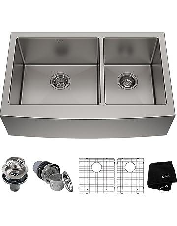 Double Bowl Kitchen Sinks Amazoncom Kitchen Bath Fixtures
