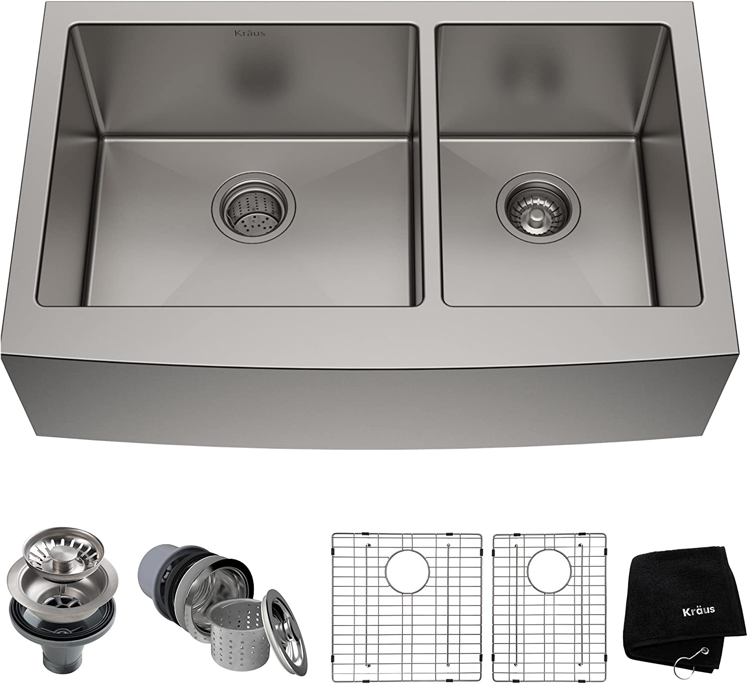 Kraus KHF203-36 Standart PRO Kitchen Stainless Steel Sink, 35.88\