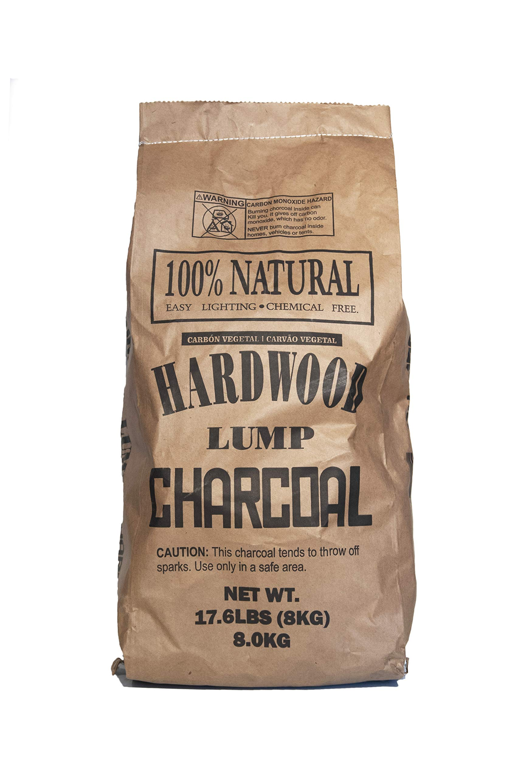 Eco Charcoal Brazilian 17.6 LB Extra Large Super Premium All Natural Hardwood Lump Charcoal