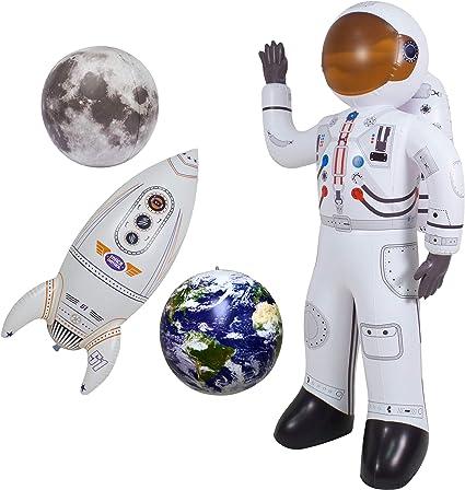 Amazon.com: Jet Creations Astronauta inflable Luna Tierra y ...