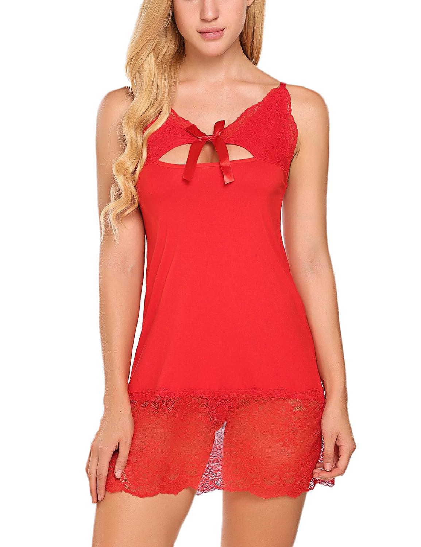 Avidlove Women Lingerie Lace Babydoll Women Chemise Sleepwear Dress Full Slips #ALL006283