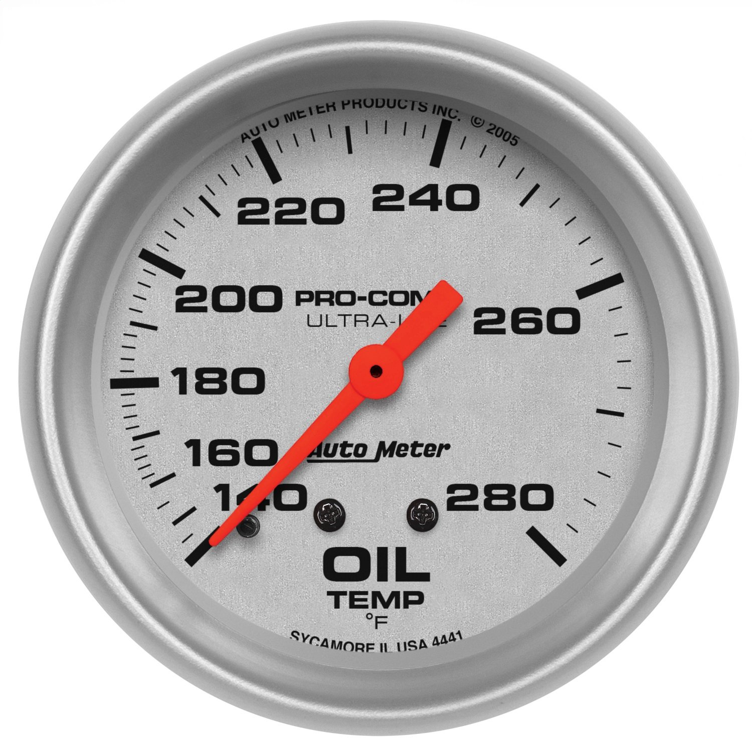 Auto Meter 4441 Ultra-Lite Mechanical Oil Temperature Gauge by Auto Meter