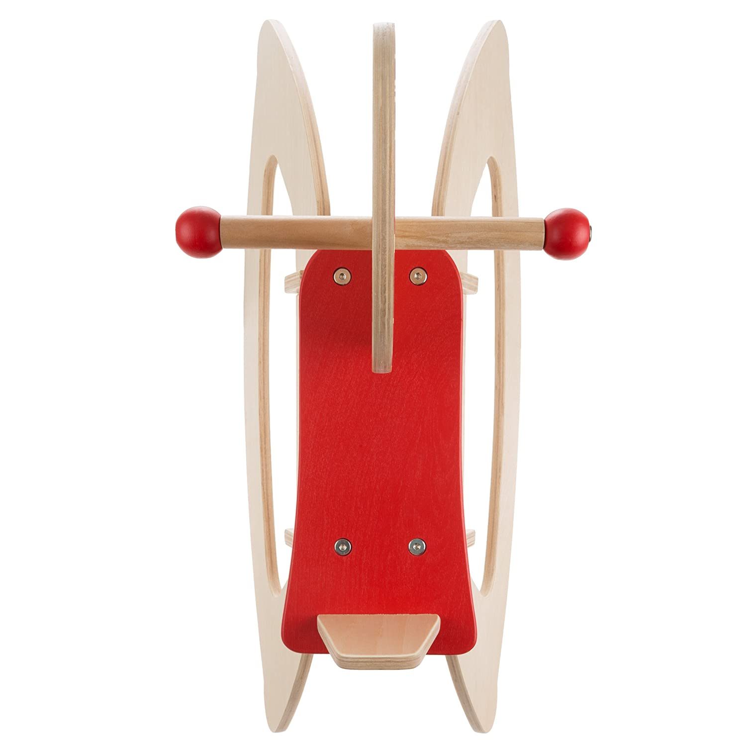 Balance and Coordination-Fun for Boys and Girls 80-JR108 Rocking Horse Ride-on Toy for Children-Classic Wooden Rocker-Helps Develop Strength Wood Play Hey