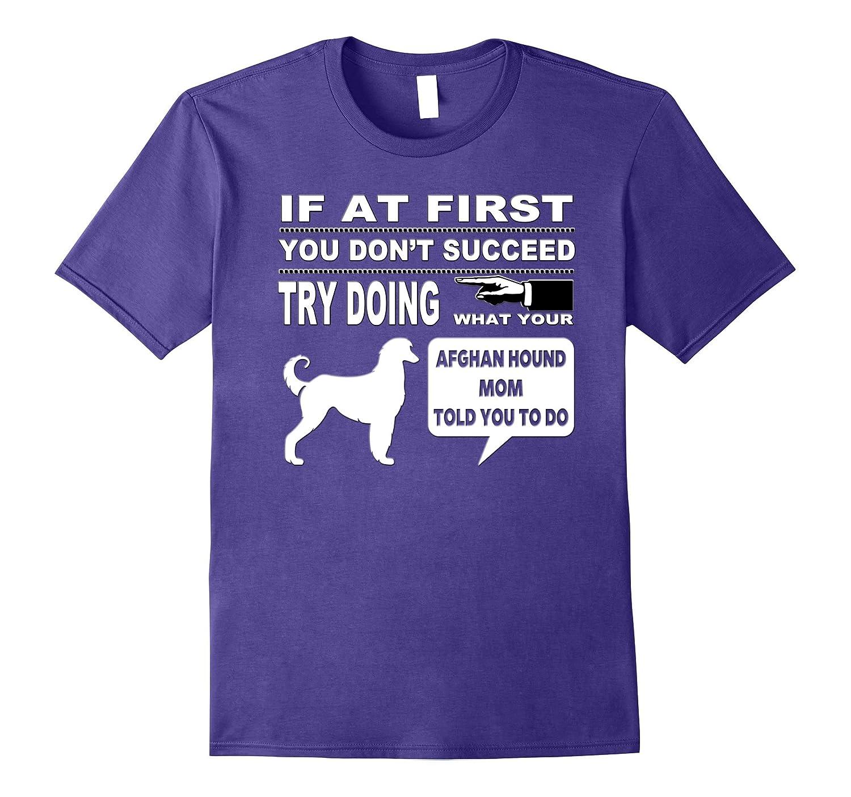 Afghan Hound Mom Tee-Shirt for Dog Parent-Art
