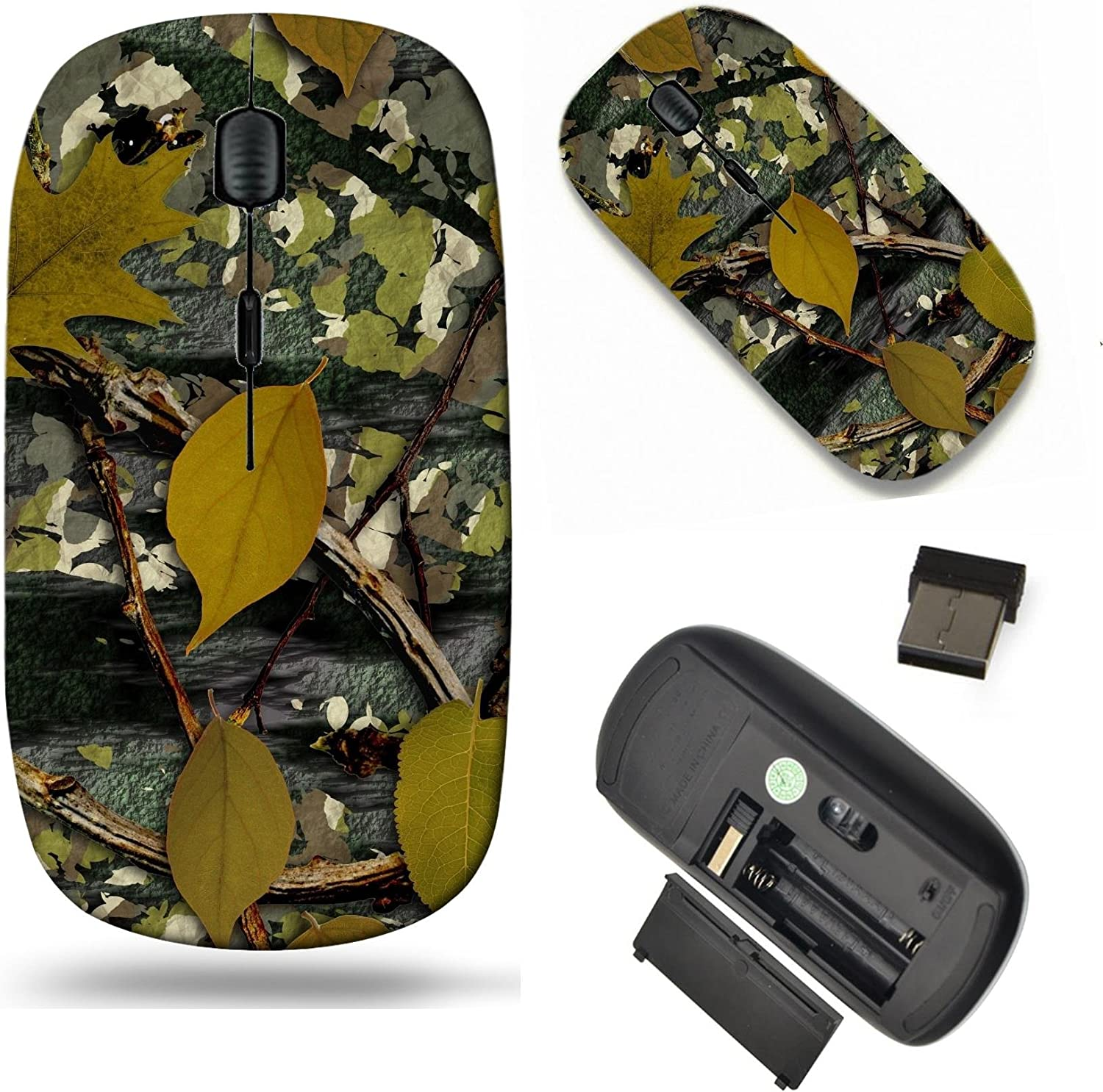 MSD Wireless Mouse Travel 2.4G Wireless Mice with USB Receiver, Noiseless and Silent Click with 1000 DPI for notebook, pc, laptop, computer, mac book design: 12826589 Natural Camouflage Seamless Textu