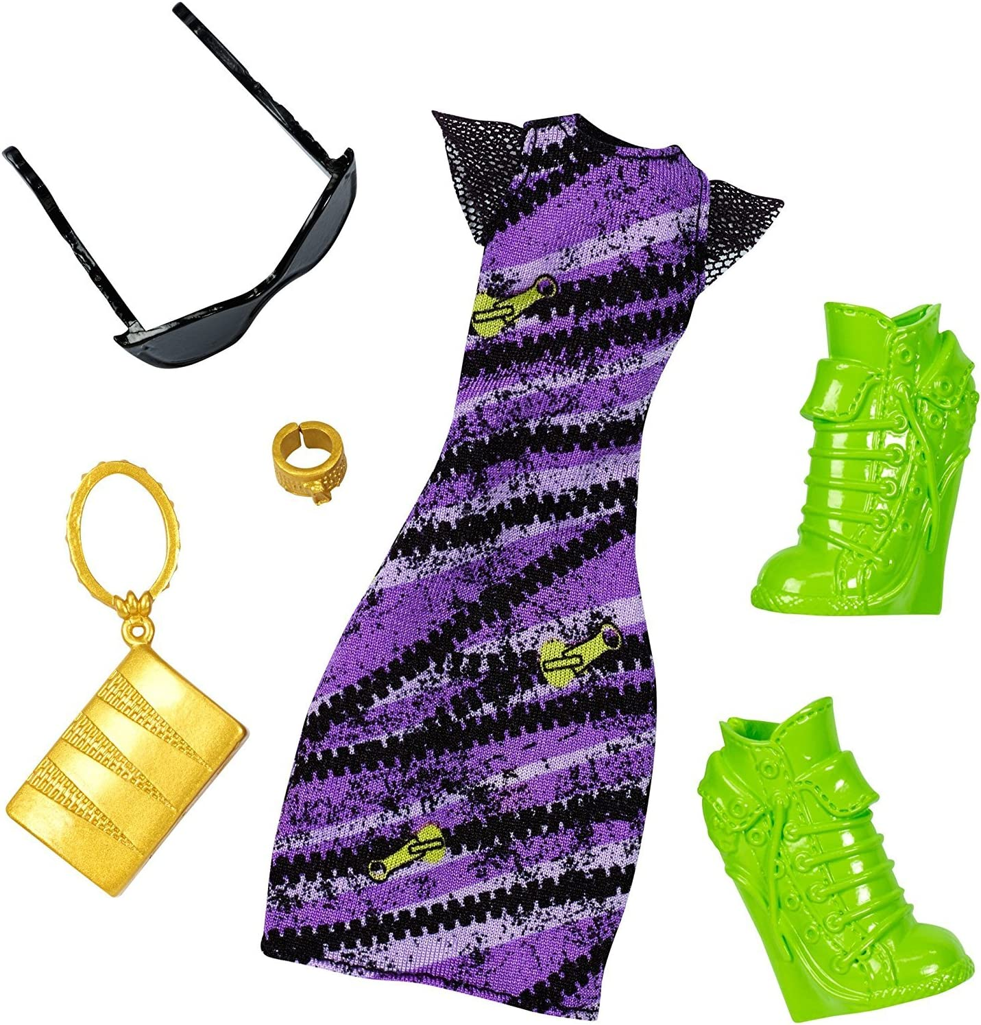 Amazon.es: Monster High - DNX61 - Clawdeen Wolf Spooky Sweet Complete Look - Deluxe Doll Clothing Costume Fashion Pack: Juguetes y juegos