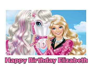 Amazon Barbie Image Photo Cake Topper Sheet Personalized Custom