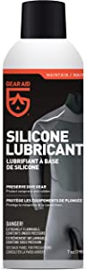 GEAR AID Silicone Lubricant Spray for Neoprene and Rubber Gear, 7 oz, Clear