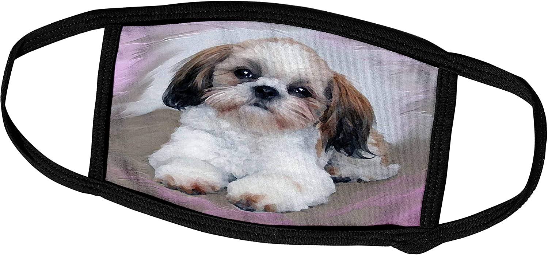 3dRose Dogs Shihtzu - Shih Tzu Puppy - Face Masks (fm_4807_1)