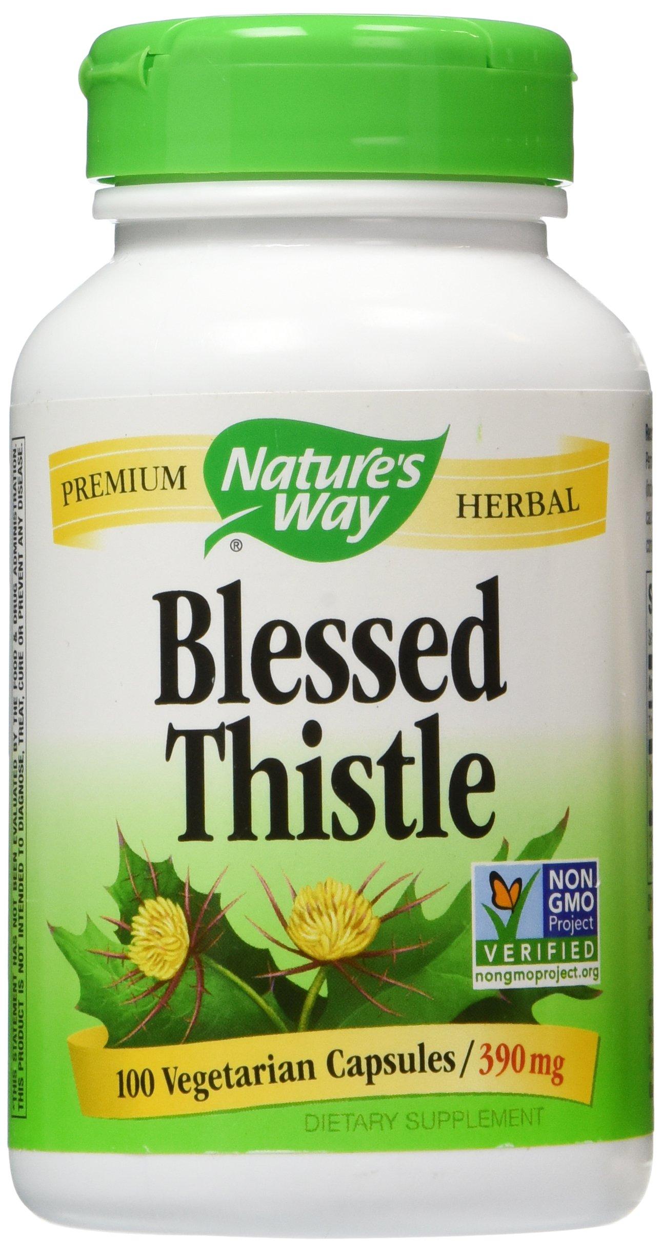Natures Way Blessed Thistle, 390 milligrams Per Cap, 100 Vegetarian Capsules