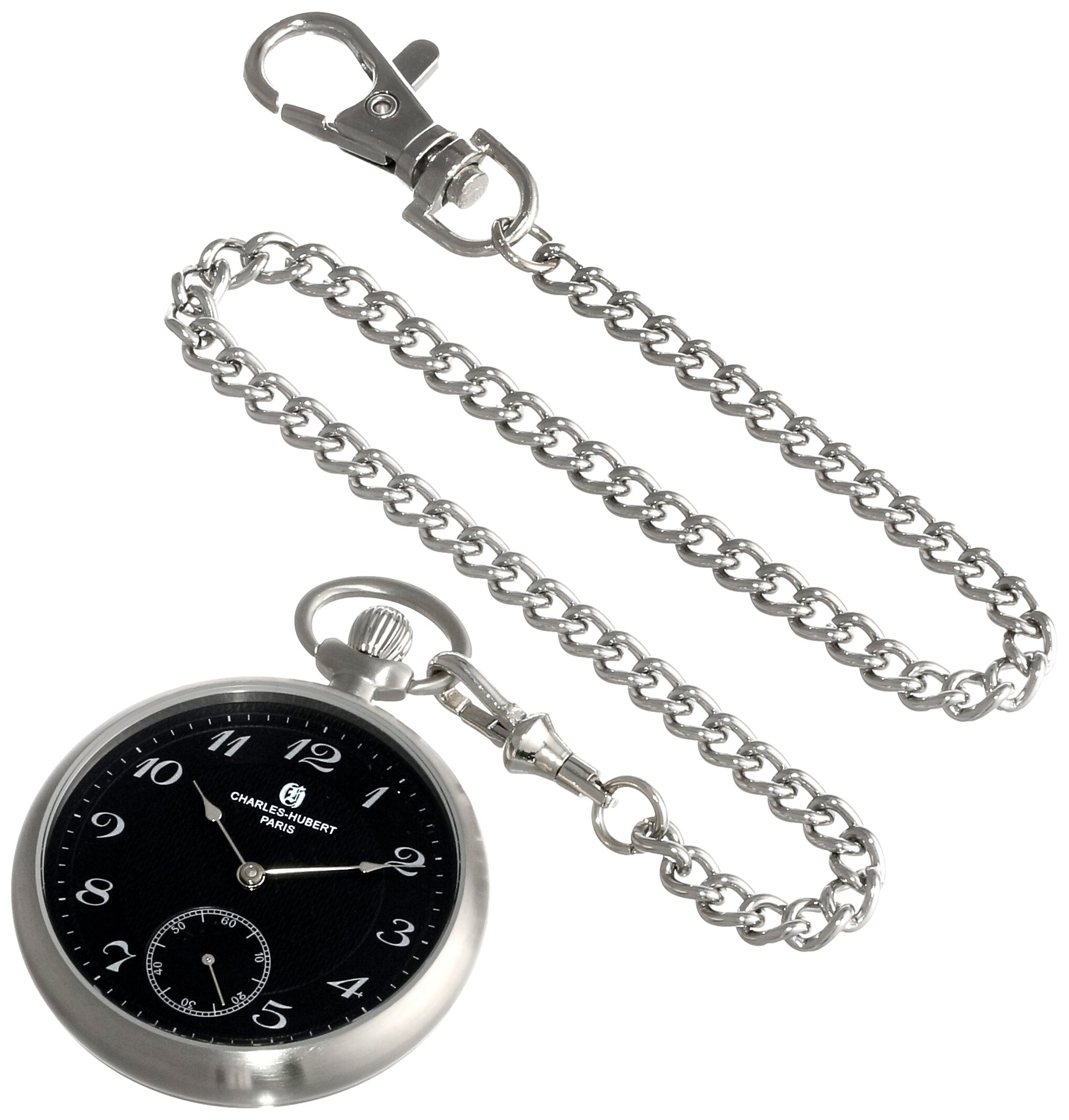 Charles-Hubert, Paris 3955-B Premium Collection Analog Display Mechanical Hand Wind Pocket Watch